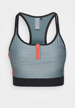 ONLY PLAY Petite - ONPALANI SPORTS BRA - Bustier - goblin blue/black/fiery coral