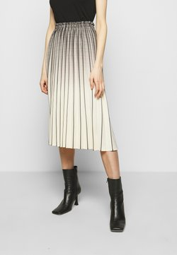 Proenza Schouler White Label - OMBRE PLAID PLEATED SKIRT - A-Linien-Rock - nude/black