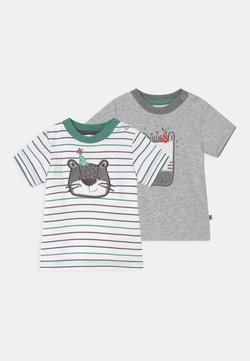 Jacky Baby - LEOPARDY 2 PACK - T-shirt con stampa - grey/green