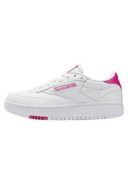 Reebok Classic - CLUB C DOUBLE - Sneakersy niskie - white/white/propnk