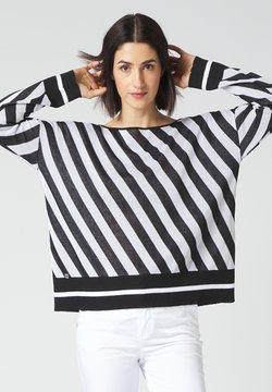 Manila Grace - Strickpullover - bianco/nero