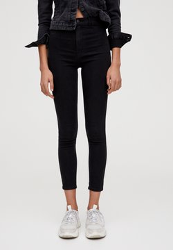 PULL&BEAR - Jeans Skinny Fit - mottled black