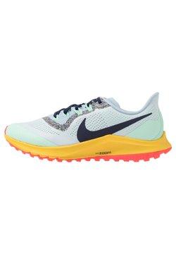 Nike Performance - AIR ZOOM PEGASUS 36 TRAIL - Laufschuh Trail - aura/blackened blue/light armory blue/mint foam/speed yellow/laser crimson