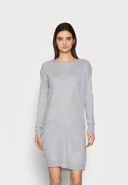 ONLY Tall - ONLAMALIA DRESS TALL - Vestido de punto - light grey melange