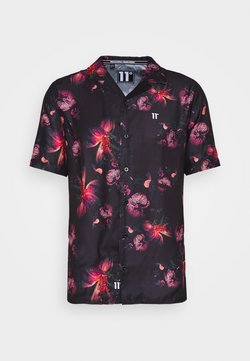 11 DEGREES - SHORT SLEEVE RESORT SHIRT - Skjorter - black/red