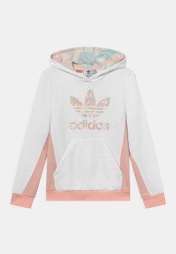 adidas Originals - HOODIE - Sweatshirt - white/haze coral