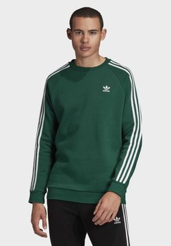 adidas Originals - 3-STRIPES CREWNECK SWEATSHIRT - Sweater - green