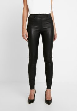 Dranella - FRUNA THEA FIT - Pantalon en cuir - black