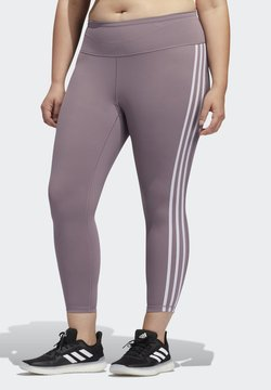 adidas Performance - BELIEVE THIS 3-STRIPES 7/8 LEGGINGS - Tights - purple