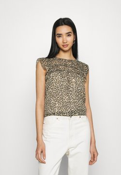 ONLY - ONLMARGUERITE CAPSLEEVE  - T-Shirt print - pumice stone