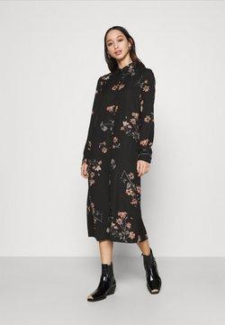 Vero Moda - VMLALLIE CALF DRESS  - Skjortekjole - black