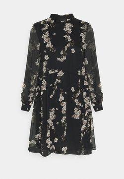Vero Moda - VMTILI HIGH NECK SHORT DRESS - Freizeitkleid - black