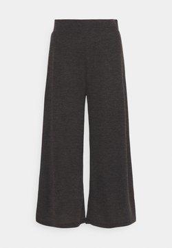 Even&Odd - WIDE LEG RIBBED TROUSERS - Pantaloni - mottled dark grey