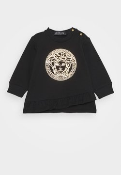 Versace - DRESS MEDUSA LAMINA PRINT WITH GREEK - Korte jurk - black/gold