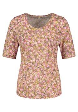 Gerry Weber - MIT FLOWERPRINT - T-Shirt print - lila/pink/grün druck