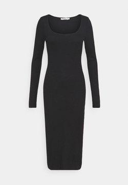 NA-KD - ROUND NECK DRESS - Vestido largo - black