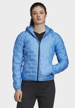 adidas Performance - LIGHT DOWN HOODED JACKET - Daunenjacke - blue