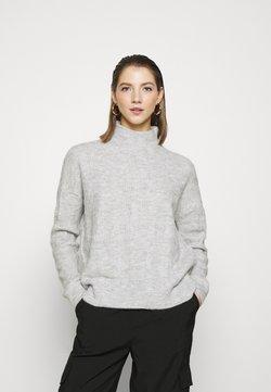 Pieces - PCBECKY TURTLE NECK - Sweter - light grey melange