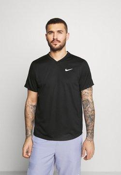 Nike Performance - T-Shirt print - black/black/white