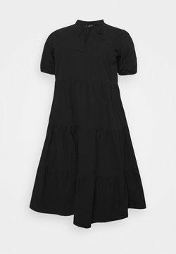 ONLY Carmakoma - CARCORINNE CALF DRESS - Freizeitkleid - black