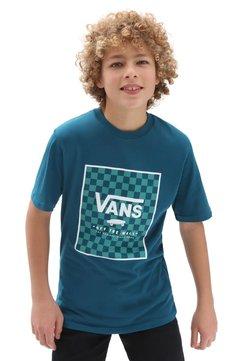 Vans - BY PRINT BOX  - T-shirt print - blue coral/checkerboard