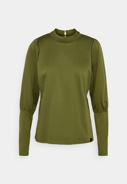 Scotch & Soda - TEE WITH SPECIAL LONG SLEEVES - Longsleeve - military green