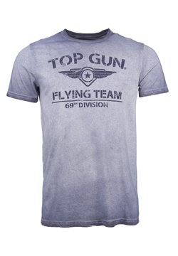 TOP GUN - MIT TOP GUN LOGO EASE - T-shirt print - navy