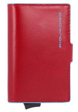 Piquadro - BLUE SQUARE LEDER - Visitenkartenetui - rot