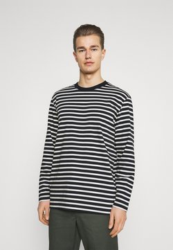 Selected Homme - SLHRELAXCOLMAN O NECK TEE  - Langarmshirt - black/egret