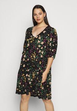 Dorothy Perkins Curve - V NECK SMOCK FLORAL DRESS - Sukienka z dżerseju - multi coloured