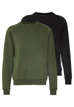 Pier One - 2 PACK - Sweater - khaki/black