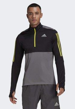 adidas Performance - OWN THE 1/2 RESPONSE PRIMEGREEN RUNNING PULLOVER SWEATSHIRT - Sudadera - grey