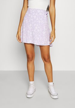 Cotton On - DREW WRAP SKIRT - A-linjainen hame - lena ditsy powder lilac