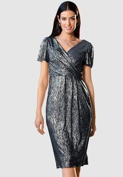 Paola - Cocktailkleid/festliches Kleid - marineblau,silberfarben