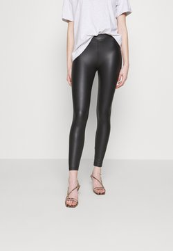 New Look - WET LOOK  - Legging - black