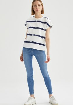 DeFacto - T-Shirt print - ecru