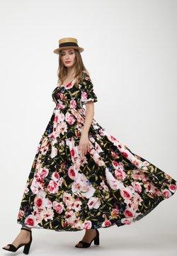 Madam-T - SALAMEA - Maxiklänning - schwarz, rosa