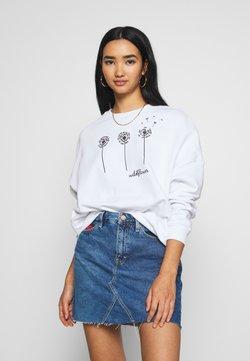 Even&Odd - Printed Crew Neck - Sweatshirts - white