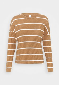 ONLY - ONLCARLA TOP - Strickpullover - toasted coconut/cloud dancer