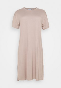 NU-IN - SHORT SLEEVE SIDE SPLIT MIDI DRESS - Vestido ligero - pink