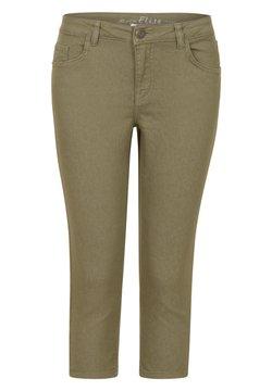 Miss E - ETAM REGULIER RE BROEK GEW BASIS ELISE CAPRI - Slim fit jeans - light olive
