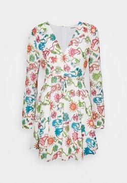 Glamorous - LONG SLEEVE DRESS WITH V NECK - Korte jurk - multi-coloured
