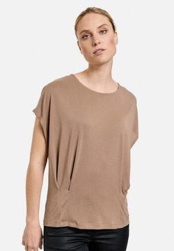 Taifun - MIT FALTEN DETAILS - T-shirt con stampa - dark brown