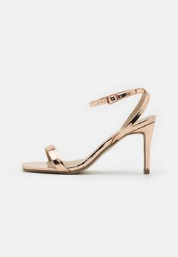 Missguided - BARELY THERE  - Sandalias de tacón - rose gold
