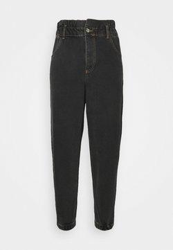ONLY - ONLOVA ELASTIC LIFE CARROT - Jeans Relaxed Fit - black denim
