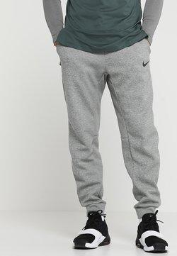 Nike Performance - THRMA TAPER - Jogginghose - dark grey heather/black