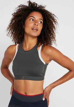 adidas Performance - CLIMALITE WORKOUT BRA - Sport BH - dark green