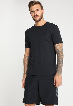 Under Armour - SPORTSTYLE LEFT CHEST - T-shirt - bas - black /black