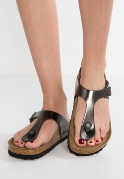 Birkenstock - GIZEH - Tongs - metallic anthracite