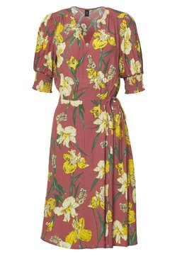 YAS - YASTROPICANA WRAP DRESS - Sukienka letnia - canyon rose